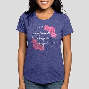 gamma sigma sigma floral Womens Tri-blend T-Shirts