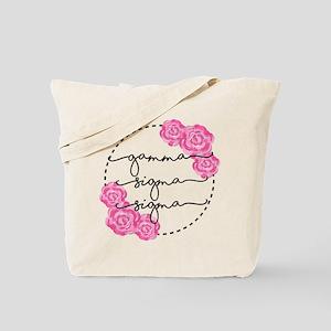 gamma sigma sigma floral Tote Bag