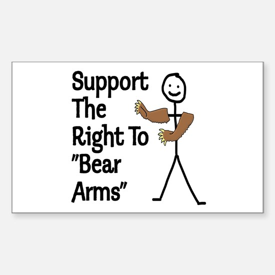 """Support The Right to """"Bear Arms"""" Decal"""