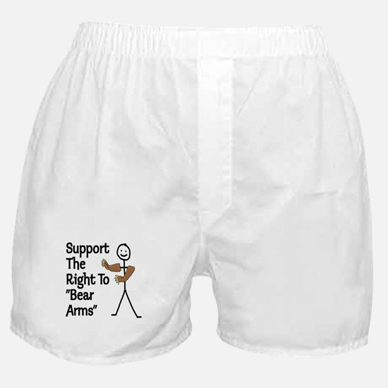 """Support The Right to """"Bear Arms"""" Boxer Shorts"""