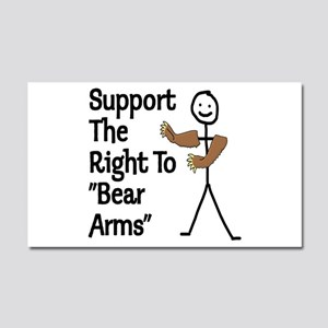 """Support The Right to """"Bear Arms"""" Car Magnet 20 x 1"""