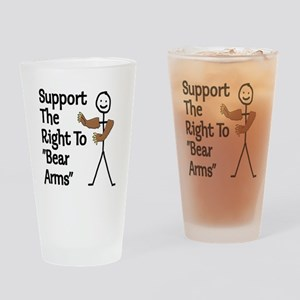 """Support The Right to """"Bear Arms"""" Drinking Glass"""