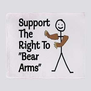 """Support The Right to """"Bear Arms"""" Throw Blanket"""