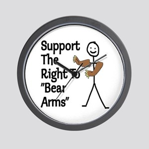 """Support The Right to """"Bear Arms"""" Wall Clock"""