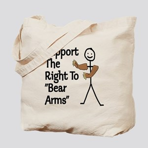 """Support The Right to """"Bear Arms"""" Tote Bag"""