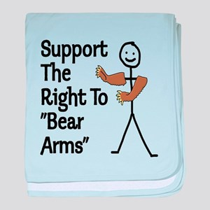 """Support The Right to """"Bear Arms"""" baby blanket"""
