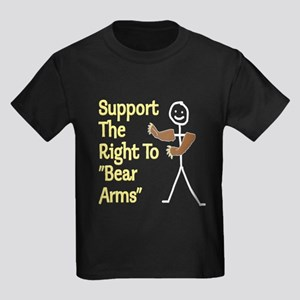 """Support The Right to """"Bear Arms"""" Kids Dark T-Shirt"""