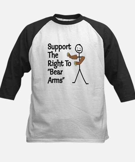 "Support The Right to ""Bear Arms"" Kids Baseball Jer"