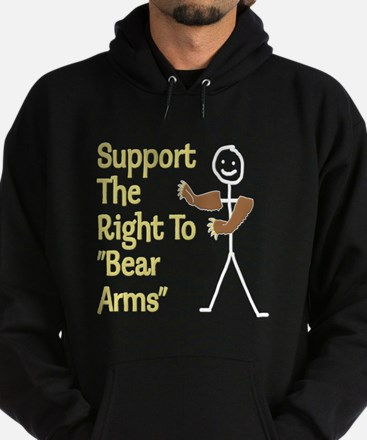 """Support The Right to """"Bear Arms"""" Hoodie (dark)"""