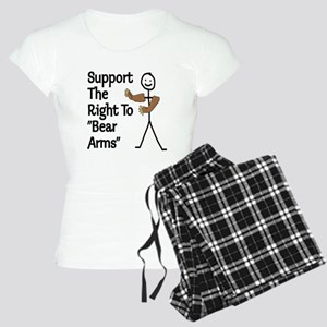 """Support The Right to """"Bear Arms"""" Women's Light Paj"""