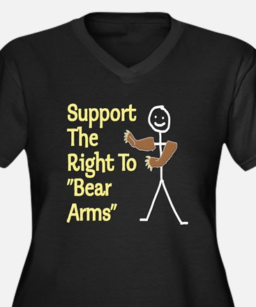 """Support The Right to """"Bear Arms"""" Women's Plus Size"""