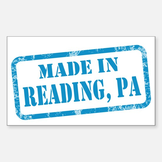 MADE IN READING Sticker (Rectangle)
