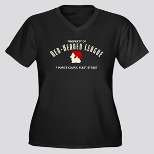 Red-Headed League Women's Plus Size V-Neck Dark T-