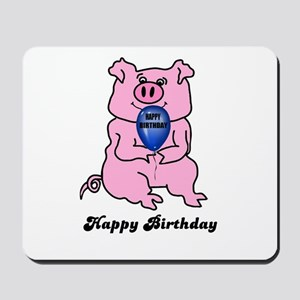 HAPPY BIRTHDAY PINK PIG Mousepad