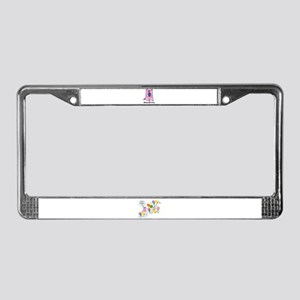 HAPPY BIRTHDAY PINK PIG License Plate Frame