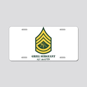 Grill Sgt. Aluminum License Plate
