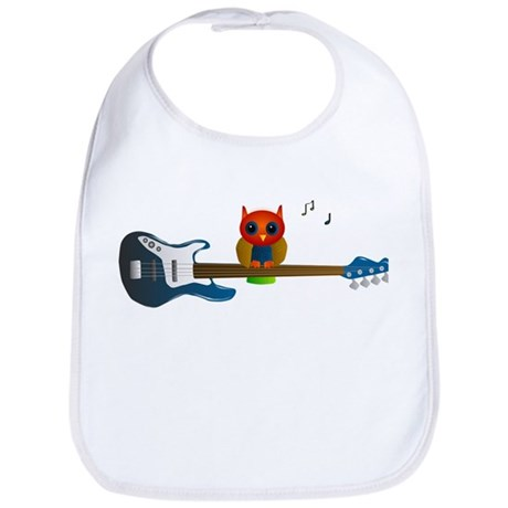 Blue & Orange Owl with Guitar Bib