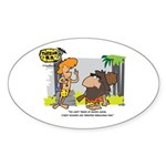 Tarzan MD - Smoking Twigs Sticker (Oval)