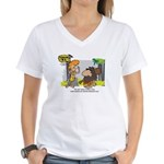 Tarzan MD - Smoking Twigs Women's V-Neck T-Shirt