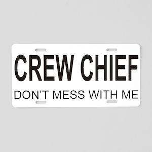 Crew Chief Aluminum License Plate