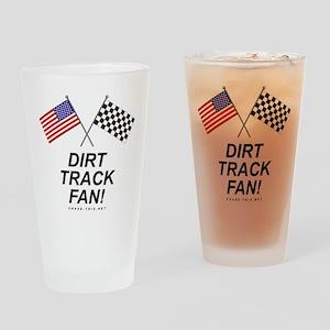 Dirt Track Fan Drinking Glass
