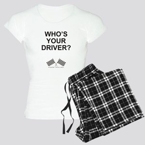 Checker Flag Driver Women's Light Pajamas