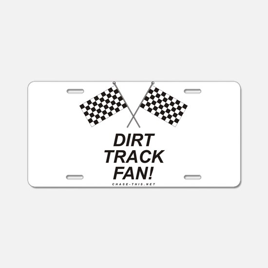 Checker Flag Dirt Aluminum License Plate