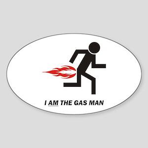 Gas Man Sticker (Oval)