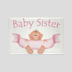 Baby Sister & Ribbon Rectangle Magnet
