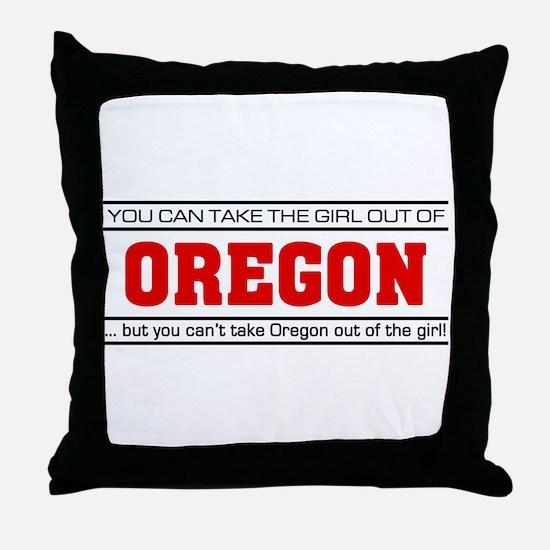 'Girl From Oregon' Throw Pillow