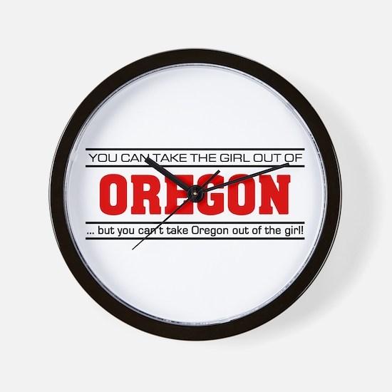 'Girl From Oregon' Wall Clock