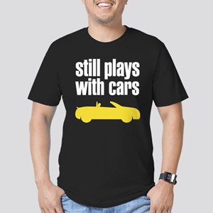 still plays with cars Men's Fitted T-Shirt (dark)