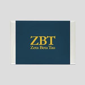Zeta Beta Tau Fraternity Letters Rectangle Magnet