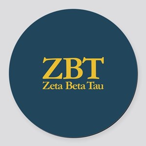 Zeta Beta Tau Fraternity Letters Round Car Magnet