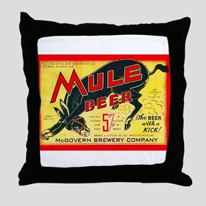 Missouri Beer Label 2 Throw Pillow