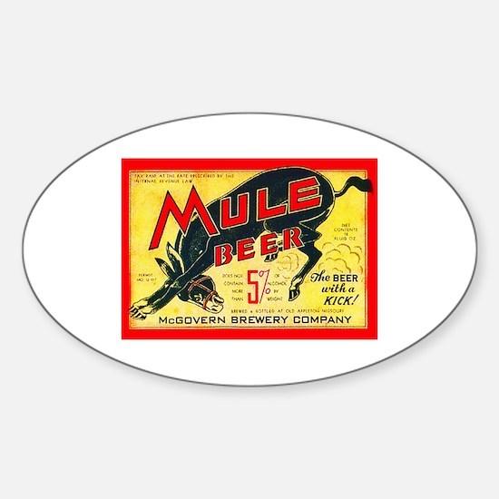 Missouri Beer Label 2 Sticker (Oval)