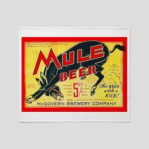 Missouri Beer Label 2 Throw Blanket