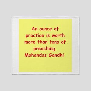gandhi quote Throw Blanket