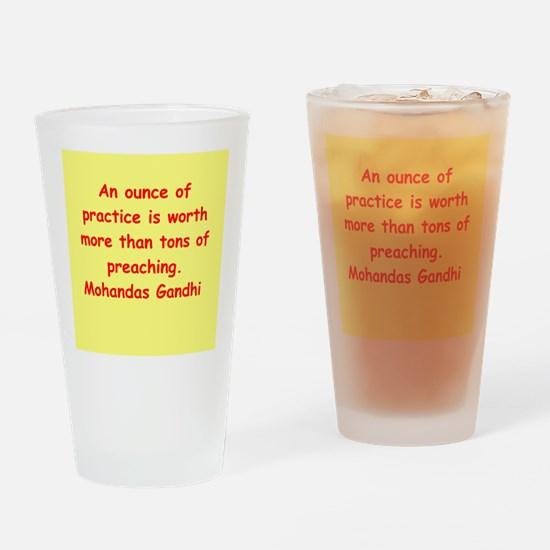 gandhi quote Drinking Glass