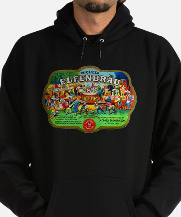 Wisconsin Beer Label 6 Hoodie (dark)