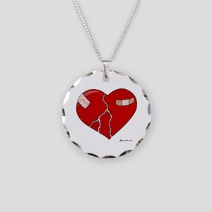 Trusting Heart Necklace Circle Charm
