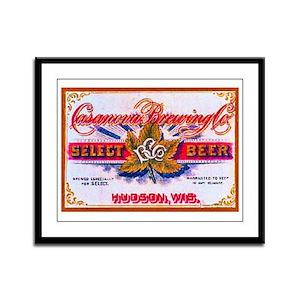 Wisconsin Beer Label 5 Framed Panel Print