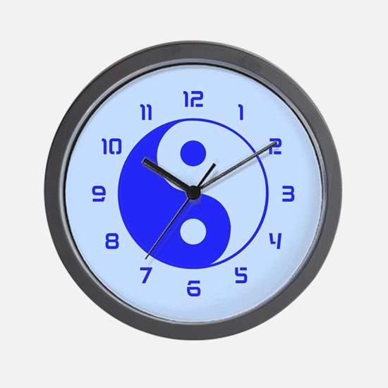 Yin Yang (Blue) Wall Clock