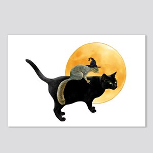 Witch Squirrel Cat Postcards (Package of 8)