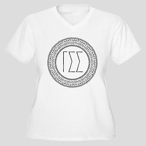 Gamma Sigma Sigma Women's Plus Size V-Neck T-Shirt