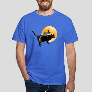 Witch Squirrel Cat Dark T-Shirt