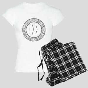 Gamma Sigma Sigma Medallion Women's Light Pajamas