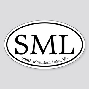 SML Smith Mountain Lake Sticker (Oval)