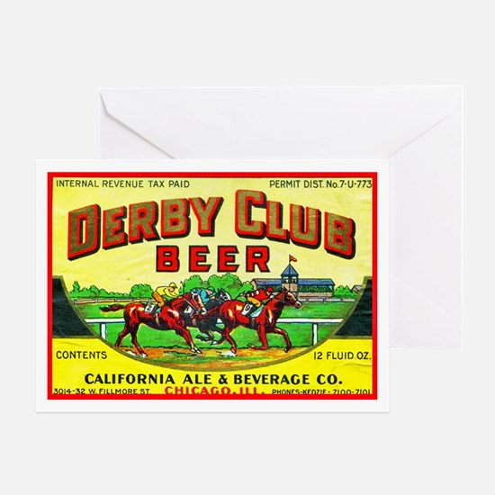 Illinois Beer Label 10 Greeting Card