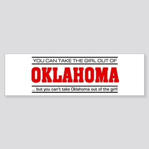 'Girl From Oklahoma' Sticker (Bumper)